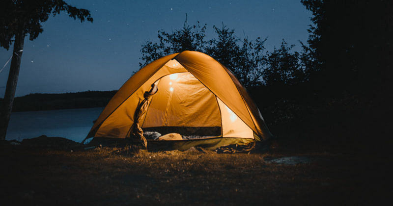 Zelten auf Festivals Studenten