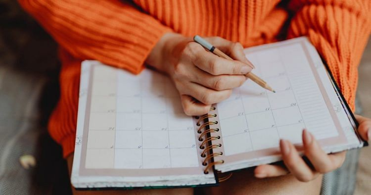 Semesterplanung, Kalender, Notizen
