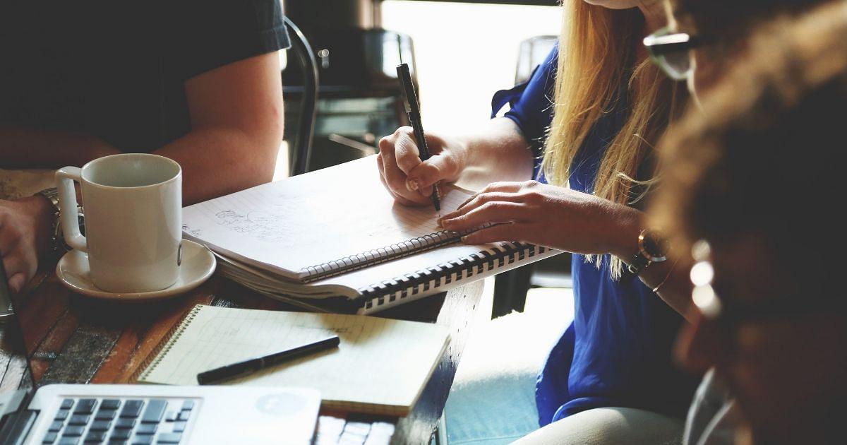 Notizblock, Schreiben
