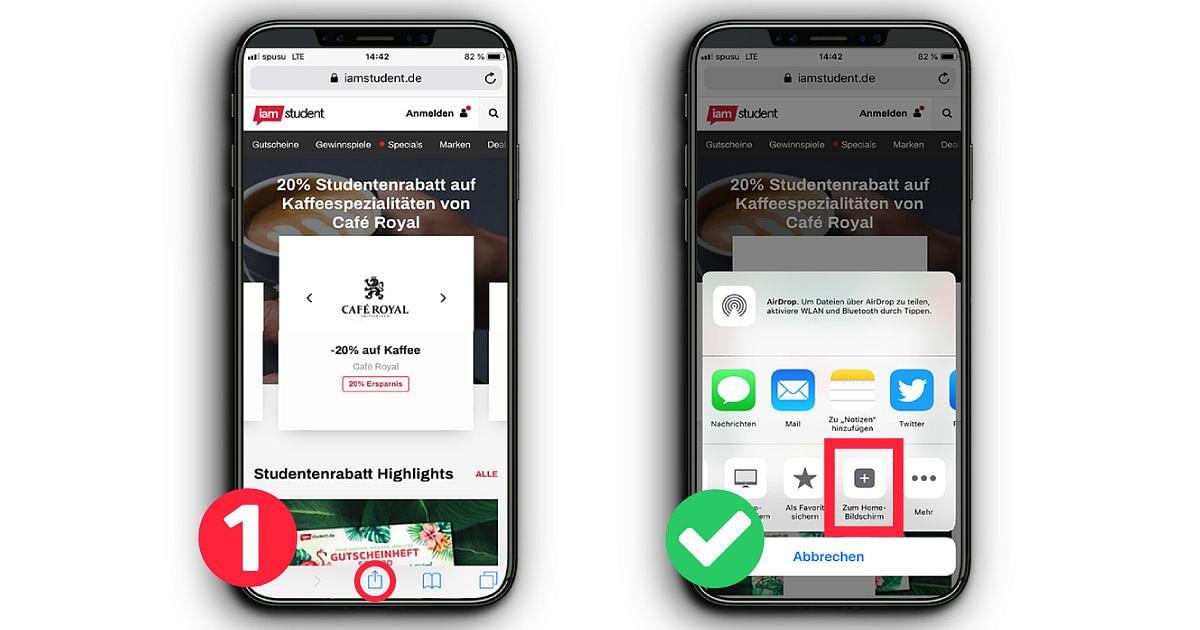iamstudent Webapp iOS